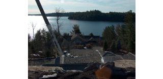 construction at a lake house